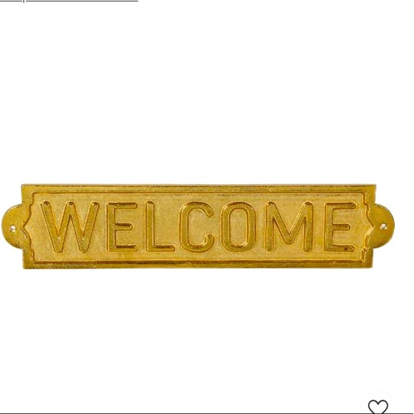 Threshold™ Metal Welcome SignWall Sculpture Gold
